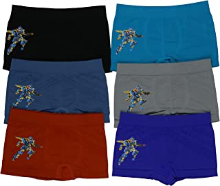 ToBeInStyle Boys' 6Pk Graphic Decal Print Boxer Briefs - Autobot Hero - L