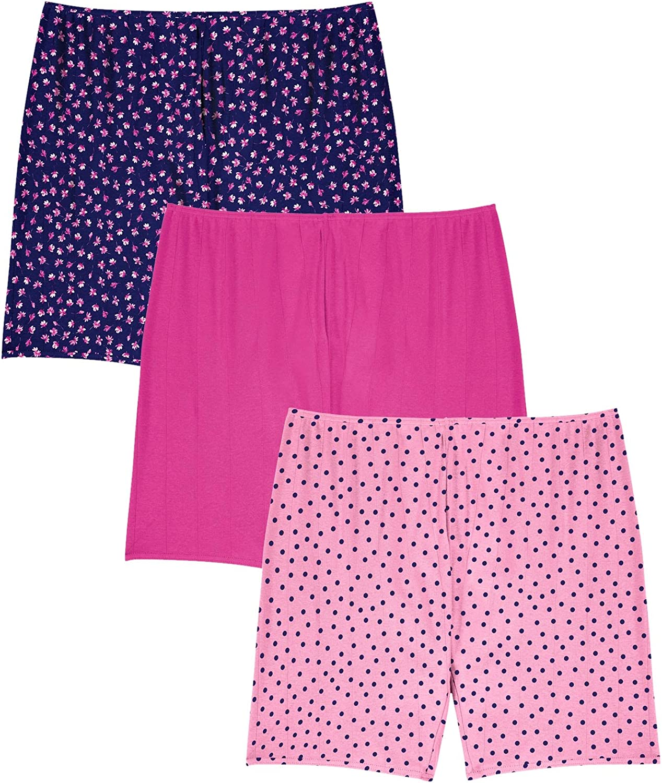 Comfort Choice Women's Plus Size 3-Pack Cotton Bloomer Panties