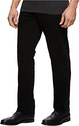 Relaxed Straight Stretch Denim in Black Rinse