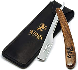 Cut Throat Straight Razor for Men by The Kings Cutthroat - Men's Cutthroat Shaving Straight Slider – Leather Travel Pouch ...