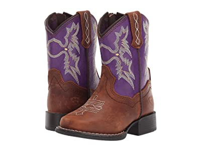 M&F Western Kids Tombstone (Toddler) (Brown/Purple) Girls Shoes