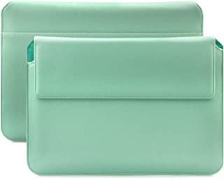 MacBook Pro 15 Case | suitably for from 14.0 to 15.6 inches Laptop Notebook | Hippo Mint Green | iCues Piquante Cover | Other Leather and Colour Variations Available Sleeve Envelope Bag