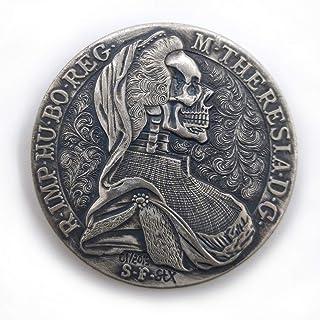 Austria-Hungary Wet Nurse Skull Coin Necklace Retro Punk HOBO Art Coin Collection Commemorative Coin