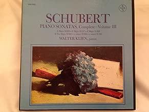 Franz Schubert: Piano Sonatas, Complete - Volume III ~ Walter Klien, Piano ~~ Vox Box SVBX 5457