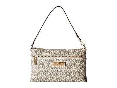 MICHAEL Michael Kors Large Wristlet (Vanilla) Handbags