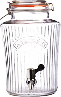 Kilner - Dispensador de Bebida, Vidrio, Transparente, 8 litros