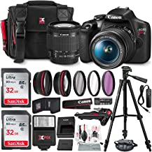 Canon Digital Camera - SLR - 24.1 MP - APS-C - 1080p / 30 fps - 3X Optical Zoom EF-S 18-55mm is II Lens - Wi-Fi, NFC - Black