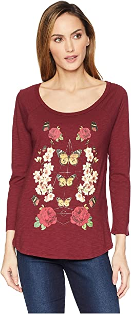Butterfly Floral Print Tee