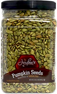 Jaybee's Nuts Pumpkin Seeds Pepitas - Roasted Unsalted (32 oz) Fresh Snacks, Vegetarian, Vegan Friendly, Gluten Free, Keto...