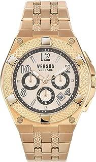 Versus by Versace Men's ESTEVE Quartz Strap, Rose Gold, 22 Casual Watch (Model: VSPEW0719)