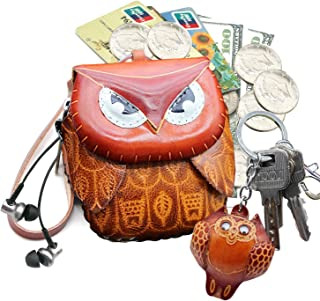 Amazon.com: Leather Zipped Coin Purse Handcrafted Change Purse Wrist Clutch Wallet with Keyring for Women: Shoes
