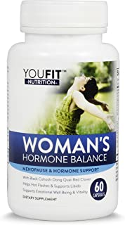 Hormonal Balance for Women & Menopause Support with Black Cohosh, Dong Quai, Red Clover, Soy Isoflavones and More   Hormone Relief Helps with Hot Flashs & Night Sweats and Others