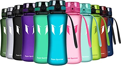 Super Sparrow Bottiglia di acqua sportiva - Flusso rapido, coperchio di prova a perdita di fuga con un clic aperto - Non-tossico BPA Free & Eco-Friendly Tritan Co-Polyester plastica - Per correre, palestra, yoga, all'aperto e in campeggio