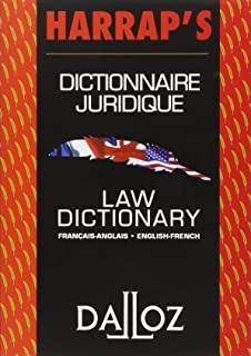 Dictionnaire juridique français-anglais / anglais-français : Law Dictionary French-English/English-French (Harrap's - Dalloz) (French and English Edition)