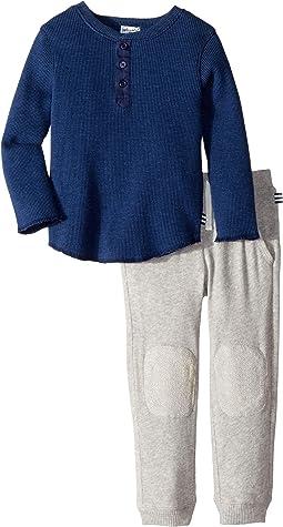 Henley Waffle Knit Set (Toddler)