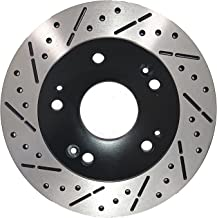 [Rear Drill&Slot Brake Rotors Ceramic Pads] Fit 2008-2014 Mitsubishi Lancer Evo