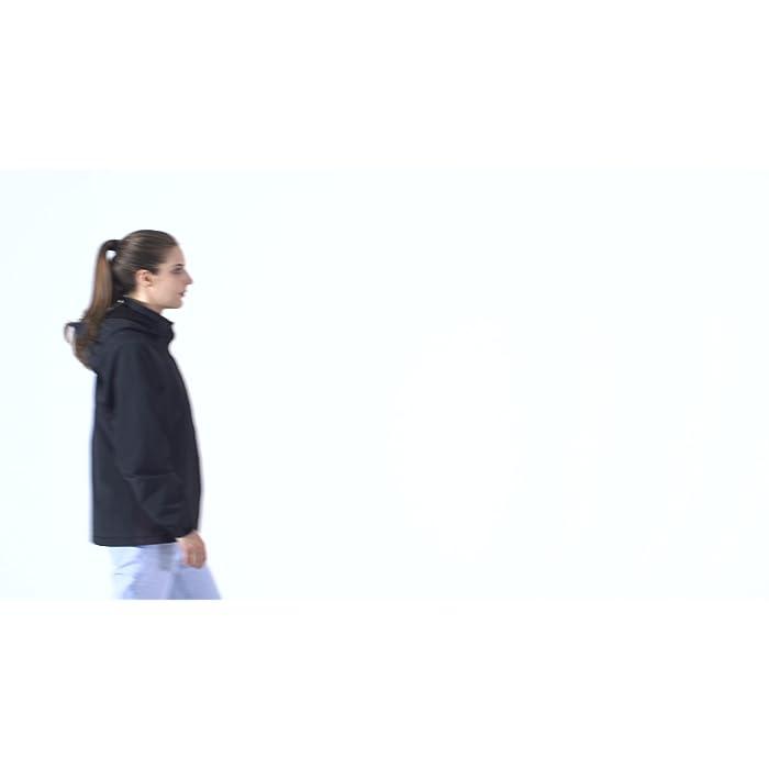 ? Chaqueta calefactable usa la tecnología más segura de calefacción por infrarrojos. Calentar uniformemente a temperatura constante con protección contra sobrecalentamiento y protección contra cortocircuitos sin causar radiación dañina al cuerpo ? El área de calentamiento calienta ambos lados del abdomen y la espalda. Simplemente presione un botón en el pecho, después de unos segundos de precalentamiento de 55℃, puede seleccionar 3 temperaturas entre alta: rojo 55℃, media: blanco 45℃, baja: azul 38℃ ? El banco de energía desmontable tiene pantalla digital para mostrar la batería restante. Batería de litio 7.4V (10000mAh) de control de temperatura inteligente tiene diferentes puertos de type-C, DC y USB, se puede calentar constante durante 10 horas