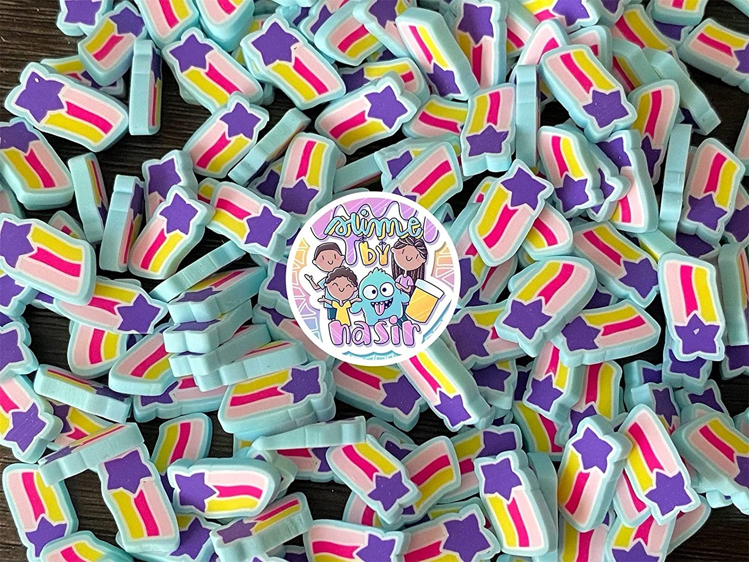 50g Large 10mm Max 74% OFF Wish Upon a Sprinkles Fimo C Slice Fake Max 43% OFF Star
