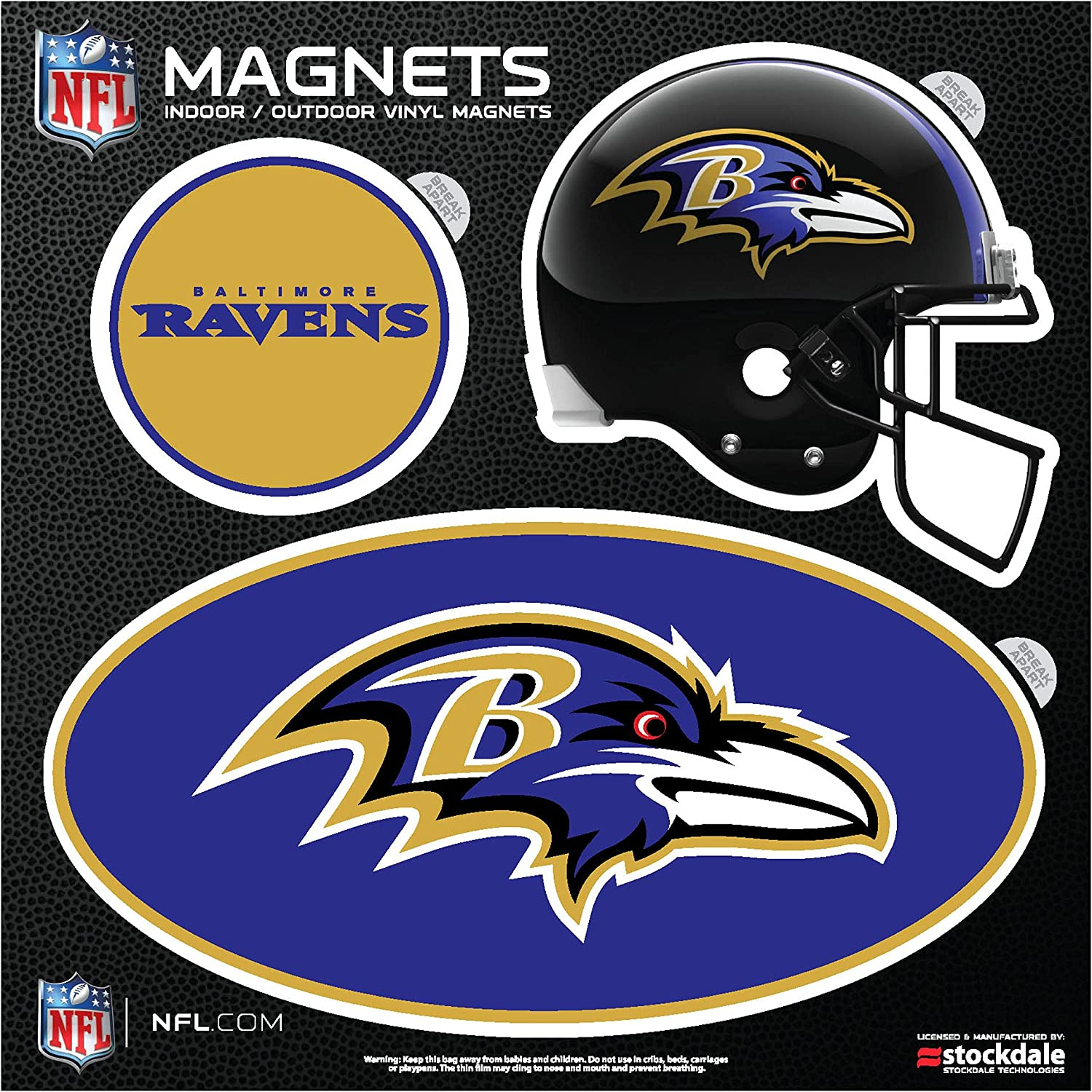 Max 57% OFF Limited time for free shipping Stockdale Baltimore Ravens Indoor Set Outdoor 3-Pack Magnet
