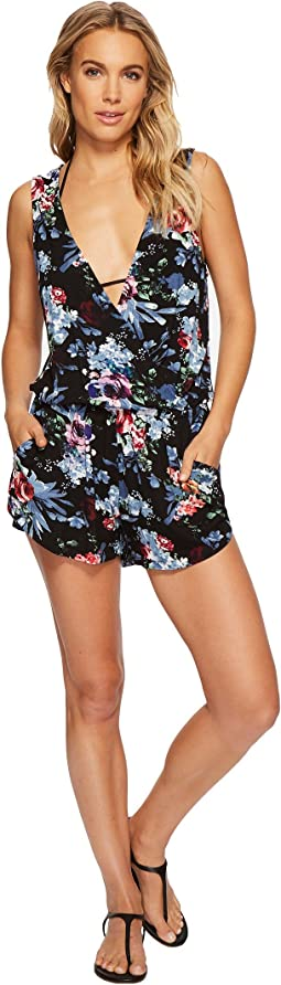 Green Dragon - Botanical Night Claire Sleeveless Romper
