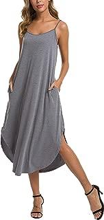 Women Sleeveless Long Nightgown Summer Full Slip Night Dress Cotton Chemise