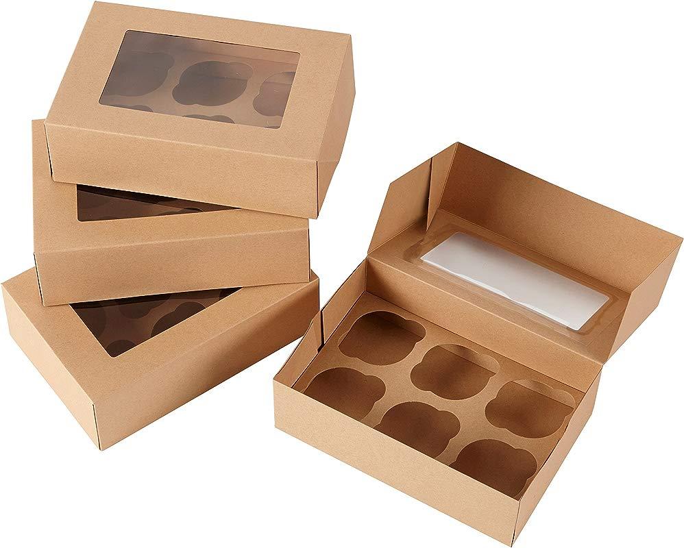 Wilton 6 Cavity Kraft Cupcake Gift Boxes Multipack Of 2