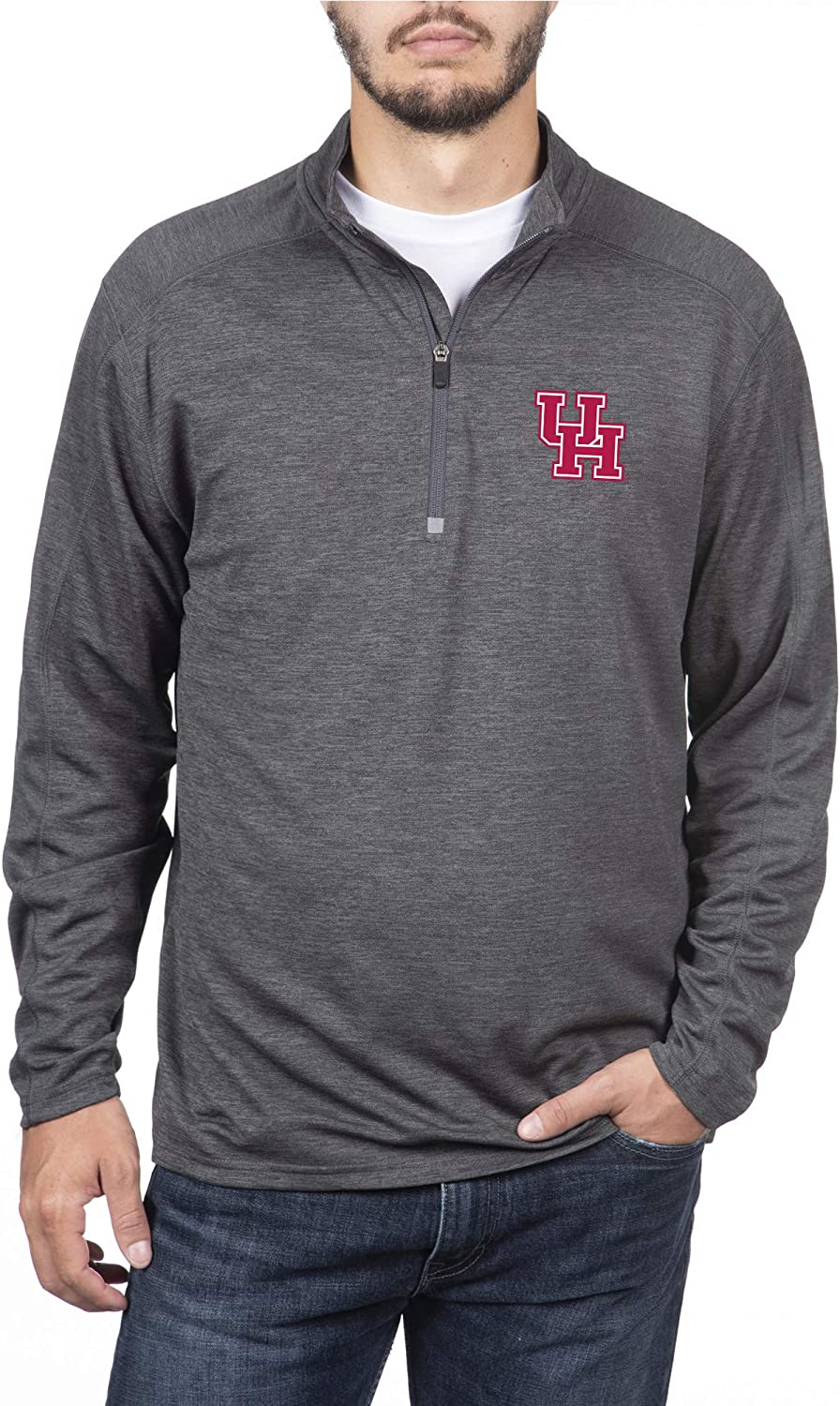 Top of the Outlet ☆ Free Excellence Shipping World Men's Dark Zip Heathered Poly Pullover Half