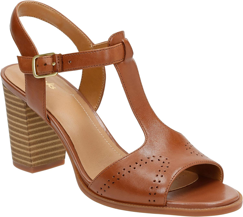 Clarks Women's Ciera Glass T-Strap Sandal