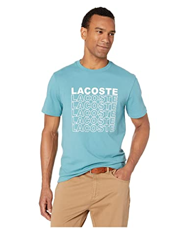 Lacoste Short Sleeve Graphic Back T-Shirt (Tide Blue) Men