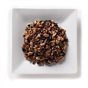 Mahamosa Almond Fruit Delight Tea 2 oz - Loose Leaf Herbal Fruit Tea Blend (with apple pieces, almonds, cinnamon pieces, beet root pieces, flavoring), Dessert Tea