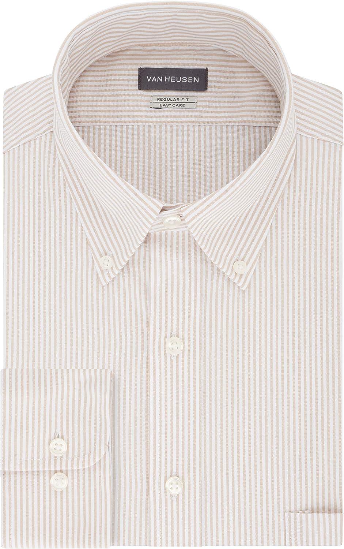 1930s Mens Shirts | Dress Shirts, Polo Shirts, Work Shirts Van Heusen Mens Dress Shirt Regular Fit Pinpoint Stripe  AT vintagedancer.com