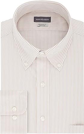 Van Heusen Camisa de vestir para hombre con rayas de ajuste regular