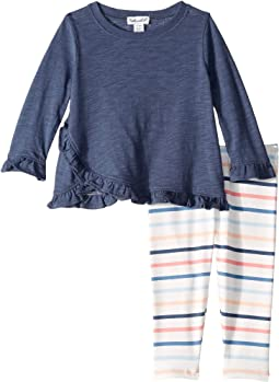 Ruffle Top & Stripe Leggings Set (Infant)
