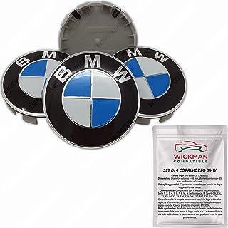 IGGY 4 Tappi Coprimozzo Logo Compatibile 55mm Serie 1 2 3 4 5 6 7 M Z X Borchie Cerchi Lega
