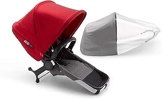 عربة اضافية لعربة الاطفال من بوجابو دونكي 3 ديو- رمادي/احمر