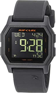 Rip Curl Men's Quartz Sport Watch with Silicone Strap, Grey, 24.1 (Model: A2701CHG1SZ)