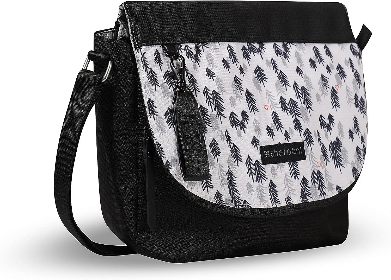 Sherpani Milli, Medium Crossbody Purse, Messenger Bag, Flap Shoulder Bag, Nylon Crossbody Bags for Women, RFID Protection