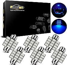 Partsam 6pcs Blue 12SMD LED Interior Dome Map Lights 31mm Festoon DE3175 3021 3022