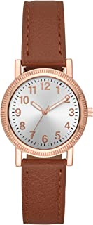 Folio Women's Cognac Vegan Leather Watch