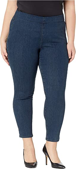 Plus Size Pull-On Skinny Ankle in Firesky