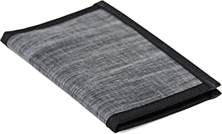 RFID Blocking Navigator Passport Wallet - Ultralight Passport Cover with Pockets for Cash & Cards - Protective RFID Blocking Layer - Waterproof - Vegan - Made in USA - Heather Grey