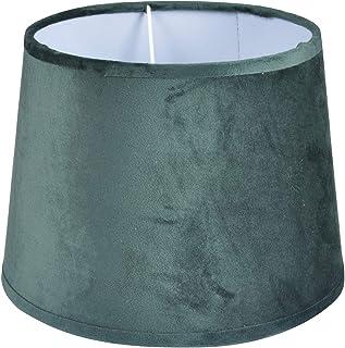 Homea 6ABJ125VF Abat-Jur, Terciopelo, Verde, Diámetro 30: 26H 20 cm