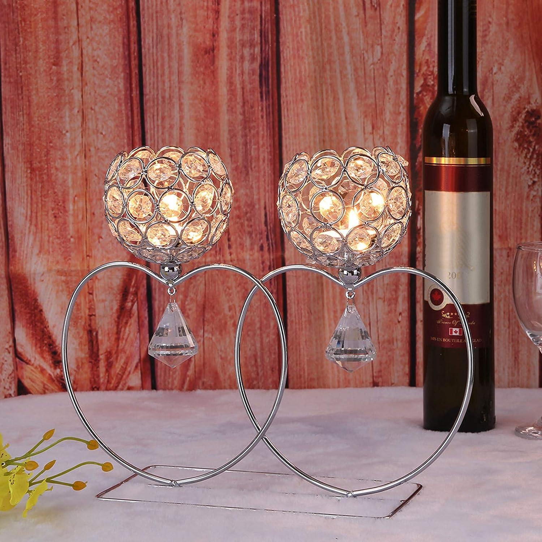 Popular Golden Love Shape Crystal Lantern Valentines for D Max 47% OFF Holder Candle
