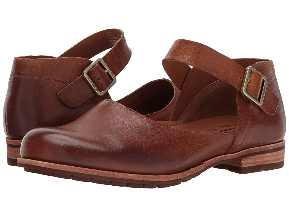 Retro Vintage Flats and Low Heel Shoes Kork-Ease Bellota Brown Full Grain Leather Womens Shoes $139.95 AT vintagedancer.com