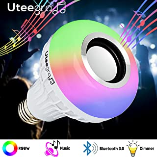 Bluetooth Light Bulb Speaker Color Changing Stereo Lights Smart Led Wireless Speakers RGB with 24 Keys
