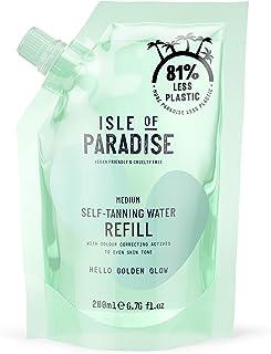 Isle of Paradise Fake Tan Water Refill, Green (200 ml) Hydrating Self Tanning Water, Natural Ingredients & Vegan, medium