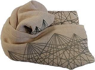 Manta decorativa plata y gris, colores personalizados, Colección Linos, cañamo, yute, manta de sofá de tejido natural, Bec...