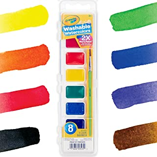 Crayola 530525 Washable Watercolours Paint Set for Kids, Assorted (8 Piece)