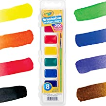 Crayola Washable Watercolors, Paint Set For Kids, 8Count