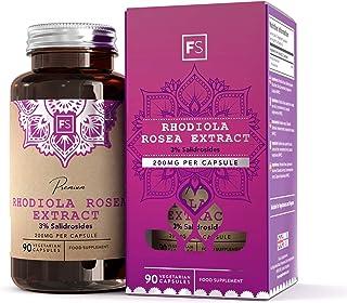 Rhodiola Rosea 200 mg de Focus Supplements | 3% de Salidrosida | PÉRDIDA DE PESO Y GANO DE ENERGÍA - Fabricado en el Reino Unido en instalaciones con licencia ISO